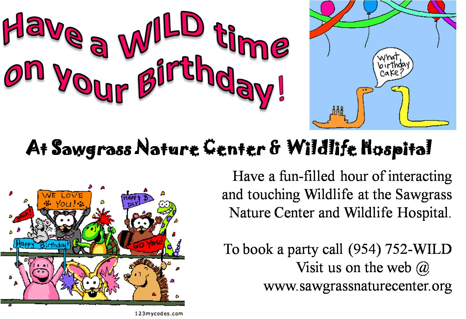 Sawgrass Nature Center Party